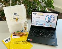 Welcome-Paket mit Süßigkeiten und Knabbereien für alle Teilnehmer