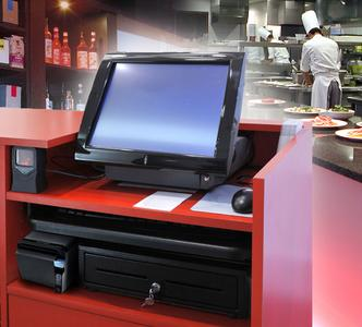 Installed beneath the sales counter, the ODP 500 is the perfect complement to POSLIGNE®'s integrated Odyssé terminal