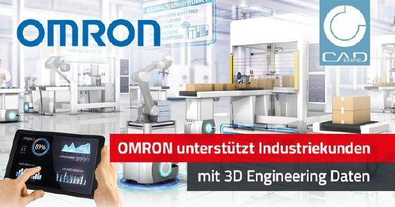 OMRON stellt 3D Engineering Daten für OEM- und Industriekunden in CADENAS Lösungen zur Verfügung