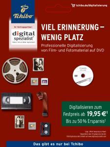 Digitalisierungsangebot auf Tchibo.de