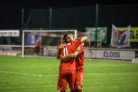 Jubel bei Florian Bichler (l.) und Enis Bytyqui  vom TSV Steinbach Haiger nach dem Heimsieg gegen den FSV Mainz 05 U23, (Foto: Björn Franz)