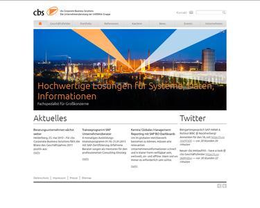 Die neue Website der Unternehmensberatung cbs Corporate Business Solutions
