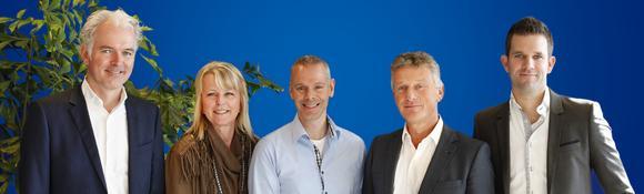 The PI Benelux team (from left to right): Dick Moerman, Marja van den Bosch, Jeroen van de Velde, Erik Keune, and Erik Reichardt