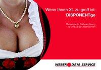 Aufmerksamkeitsstarke Werbung für DISPONENTgo