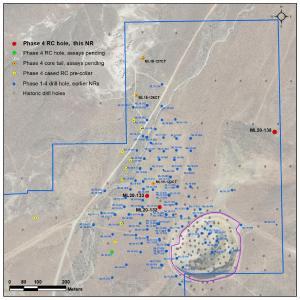 Abbildung 1. Standort der neuen Bohrlöcher bei Lagerstätte Mother Lode, Nevada