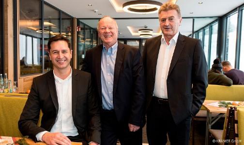 v.l.n.r. Geschäftsführer der Kramer GmbH: Alexander Butsch, Matthias Weckesser, Franz Willi