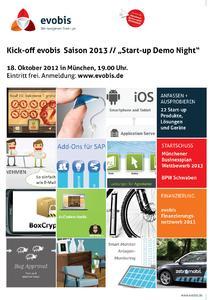 Start-up Demo Night am 18.10.2012