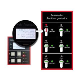 Der Feuerwehr-Zutrittsorganisator FZO von re'graph gibt bis zu sechs unterschiedliche Objektschlüssel erst im Alarmfall passend zum Auslösebereich frei.