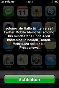 """Der neue Dienst """"tweetPush"""" auf einem iPhone"""