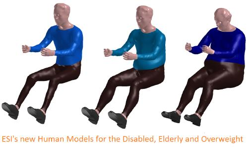 ESI's new digital human models of disabled, older and overweight individuals