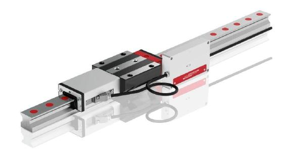 The integrated AMS distance measuring system from SCHNEEBERGER can be perfectly integrated into MONORAIL guideways – both roller guideways and ball guideways – and ensures exact travel distances with tolerances of ±5 µm/m