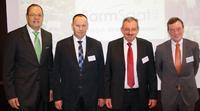 Vorstand Swen Wolke, Johannes Berlage (Aufsichtsrat), Ludwig Feldmeier (Aufsichtsratsvorsitzender) und Michael Hoppenberg (Aufsichtsrat)