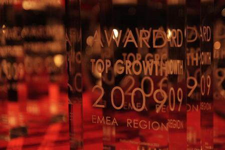 """Der Preis für den """"Best Growth Partner 2009"""" von Fortinet."""