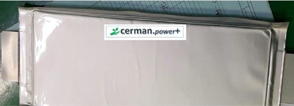 Batterie Zell Muster cerman.power+ Batterie Lithium Ionen Akku blade type
