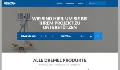 Startseite der deutschen Dremel Website