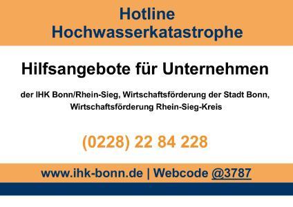 Logo Hotline Hochwasser 2021