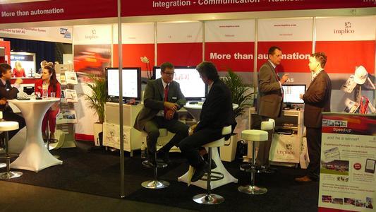 Intensive Gespräche am Stand von Implico auf der StocExpo 2012 in Rotterdam, © Implico