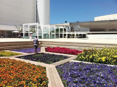 "Culture Square in Tel Aviv (Israel) ZinCo system build-up ""Roof Garden"", Photo: ZinCo"