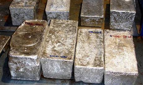 Silberbarren; Foto: Coeur Mining
