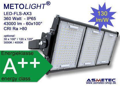 METOLIGHT LED Flutlicht FLS-AX3, 360 Watt, 43000 lm