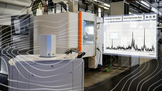 The Fraunhofer IPT has joined forces with international partners to network industrial production wirelessly with 5G in order to test its potential for industrial environments.