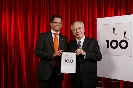 Lutz Hohmann, Bereichsleiter Finanz & Personal PROFI Engineering Systems AG // Lothar Späth, Mentor Mittelstandsprojekt Top 100