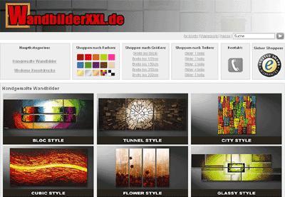Online-Shop statt Gallerie: Handgemalte Acrylbilder und moderne ...