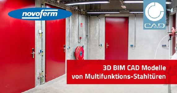 3D BIM Katalog für Multifunktions-Stahltüren öffnet Novoferm Tür und Tor zur Digitalisierung