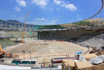 Großbaustelle in Rio de Janeiro - das Maracanã-Stadion befand sich hier noch im Bau.