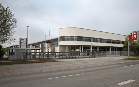 Der neue Eingang Nordost.