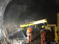 Putzmeister Wetkret line working in Santiago de Chile metro extension