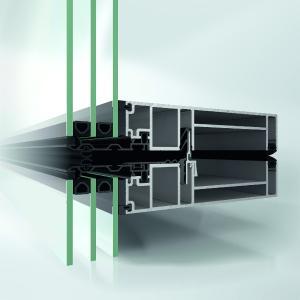 Die neue Schüco Fassade UDC 80 mit Uf-Werten von bis zu 0,86 W/(m²K) inkl. Schraubeneinfluss setzt auch in puncto Energieeffizienz neue Maßstäbe