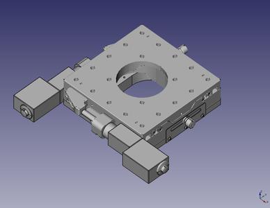 Ein motorisierter Aperturtisch - nur ein Beispiel der Synergien unserer Produkte.