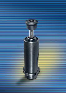 Der hier abgebildete neue Industriestoßdämpfer aus der Magnum-Serie vom Typ SC4525EUM-5-8 bietet einen effektiven Massebereich von 3.400 -bis 39.000 kg/ Damit eignen sich die neuen Topfkolbendämpfer vor allem für den Einsatz in Drehmodulen,da sie in der Lage sind,trotz geringer Aufprallgeschwindigkeiten die Massen sicher und zuverlässig abzubremsen