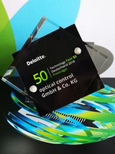 optical control gewinnt den Deloitte Fast Fifty Technology Award
