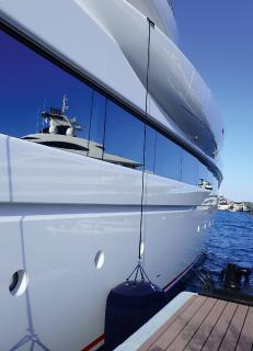 High-tech analysis of airbone rust on superyachts
