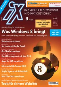 Titelbild der aktuellen iX-Ausgabe 5/2012