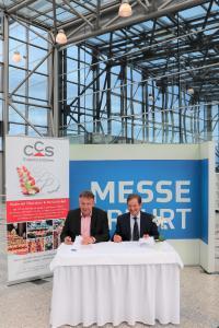 Messe Erfurt GmbH, Vertragsunterzeichnung mit CCS (v.l. Kynast und Alsguth)