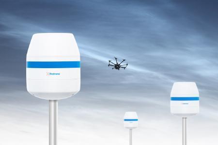 Der neue RF-360 von Dedrone detektiert und ortet Drohnen und Fernsteuerungen in Smart Cities und an Flughäfen.