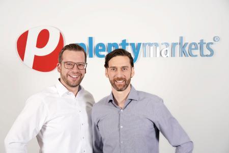 Jan Griesel (Founder, CEO), Bernhard Weiß (CBDO) plentysystems AG