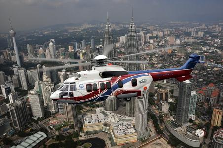 EC225 of MHS Aviation is enclosed, © copyright TJ Mansur