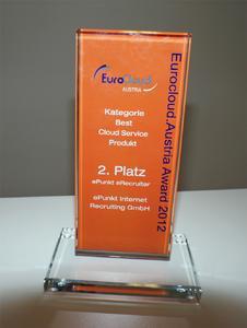 Der eRecruiter von ePunkt wurde mit dem Best Cloud Österreich Award ausgezeichnet (Copyright: ePunkt)