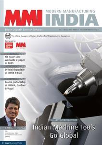 """Titelseite der neuen Fachzeitschrift """"Modern Manufacturing India"""""""