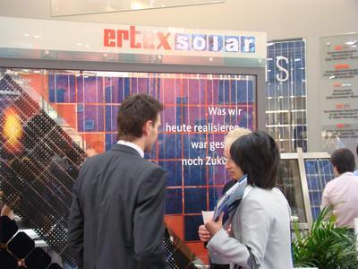 Der Stand der ertex Solar GmbH