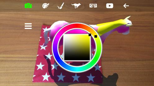 3D Coloring Book App In Augmented Reality AR