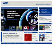 New web site reflects expanded product & applications from JPK