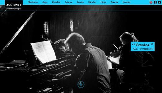 Atos Trio live auf der Audionet Website