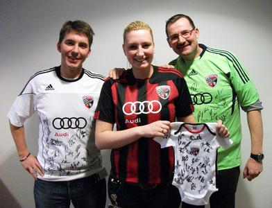 Raffle of FC Ingolstadt merchandising items for BFFT employees