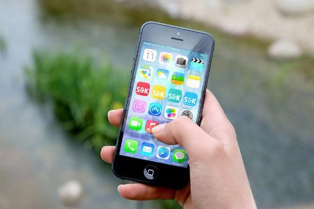 Icons der mobilen Webseite auf dem Smartphone