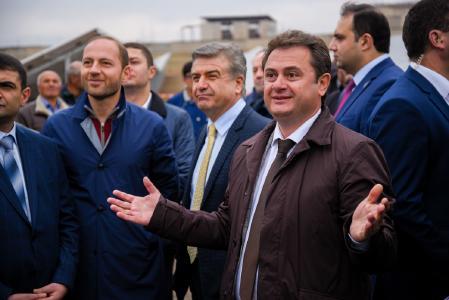 Middle: Mr. Karen Karapetyan, Prime Minister